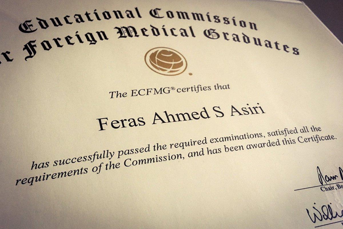 On Twitter Ecfmg Certificate