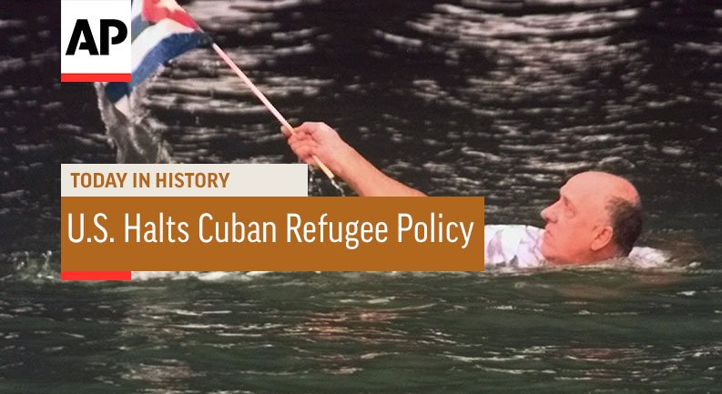 #OTND In 1994, U.S. President Bill Clinton halted the nation's three-decade open-door policy for Cuban refugees https://t.co/GkNjfUxpF8