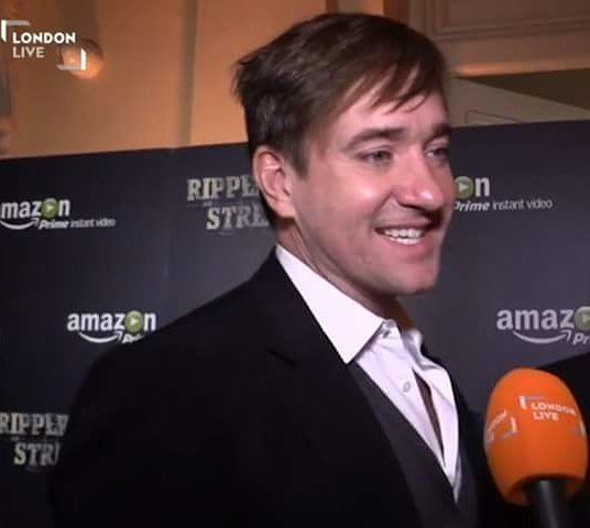 Attending the premiere of #RipperStreet s3 (love the fringe!) #Matthew...