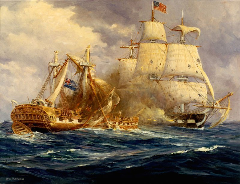 On This Day. 1812: The USS Constitution defeated HMS Guerrière, earning it the name 'Old Ironsides.' See it today in Boston harbor