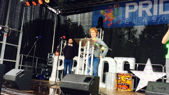'Love is love' - First Minister Nicola Sturgeon addresses the crowds a...