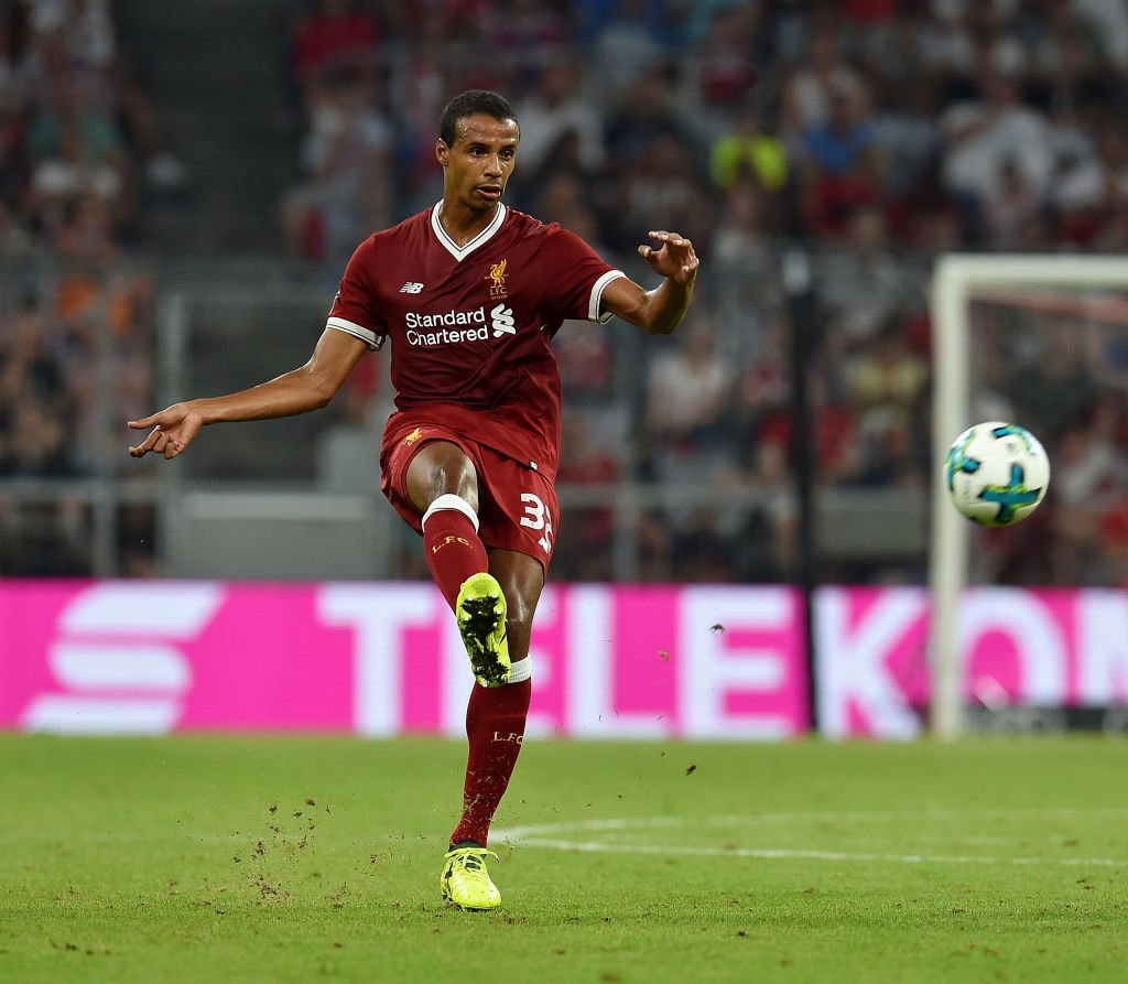 15: Andy Robertson whips in a delightful cross but Joel Matip can't qu...