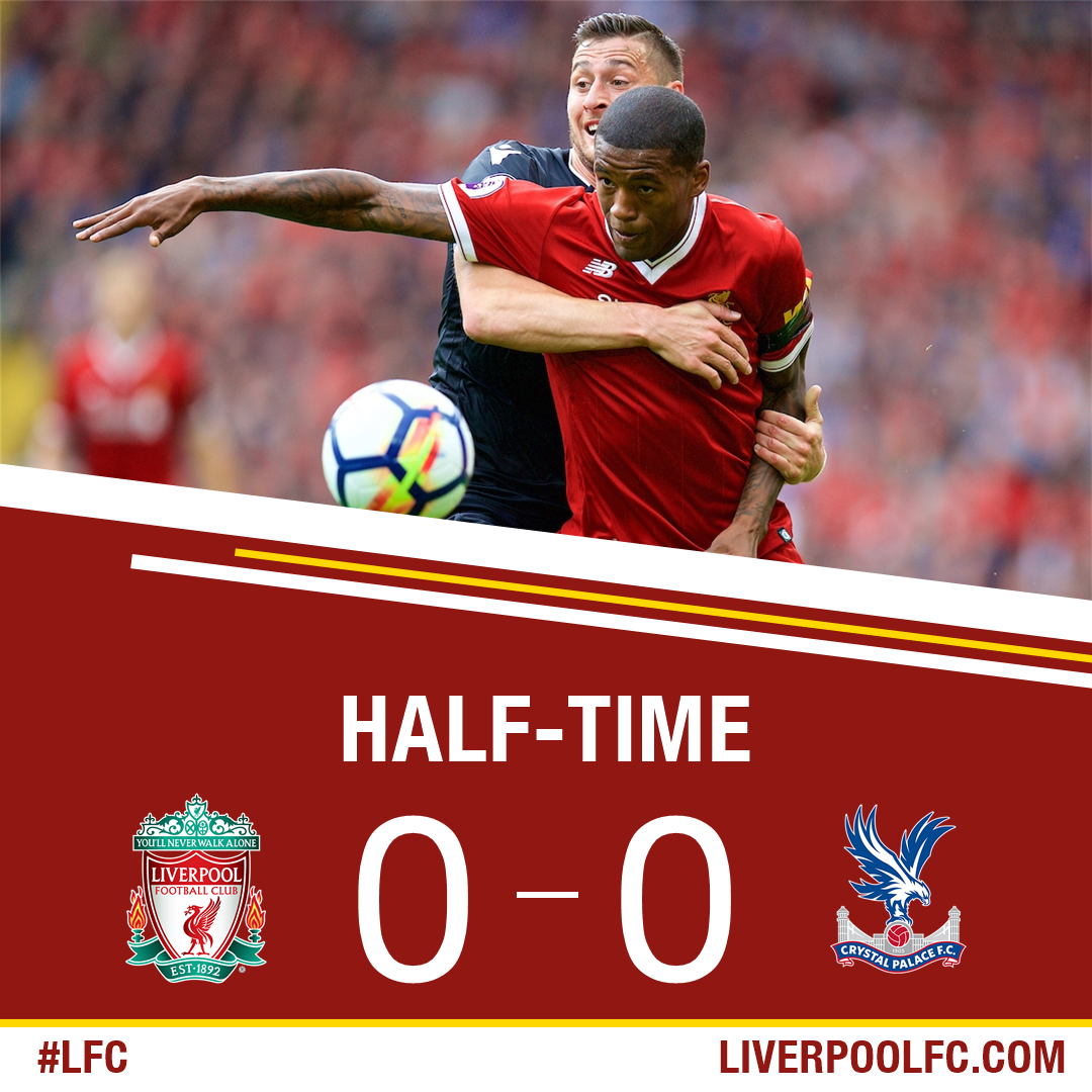 A goalless opening 45 minutes at Anfield. https://t.co/lxXrrgiKdQ