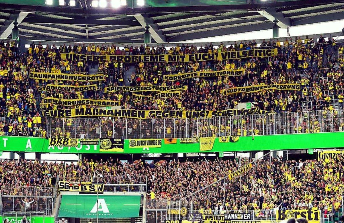 First away day in this season  SCHEISS DFB!!! #vflbvb #EchteLiebe #scheissdfb<br>http://pic.twitter.com/m9trKq8c9a