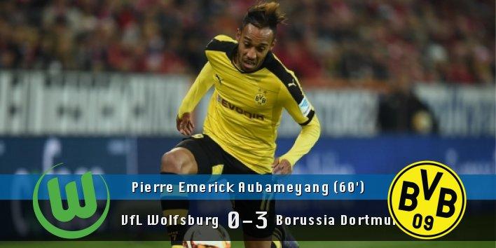 GOAL!!! Pierre Emerick Aubameyang (&#39;60) scores!!  #VfLWolfsburg 0 #BorussiaDortmund 3 <br>http://pic.twitter.com/jolRvm4OR0