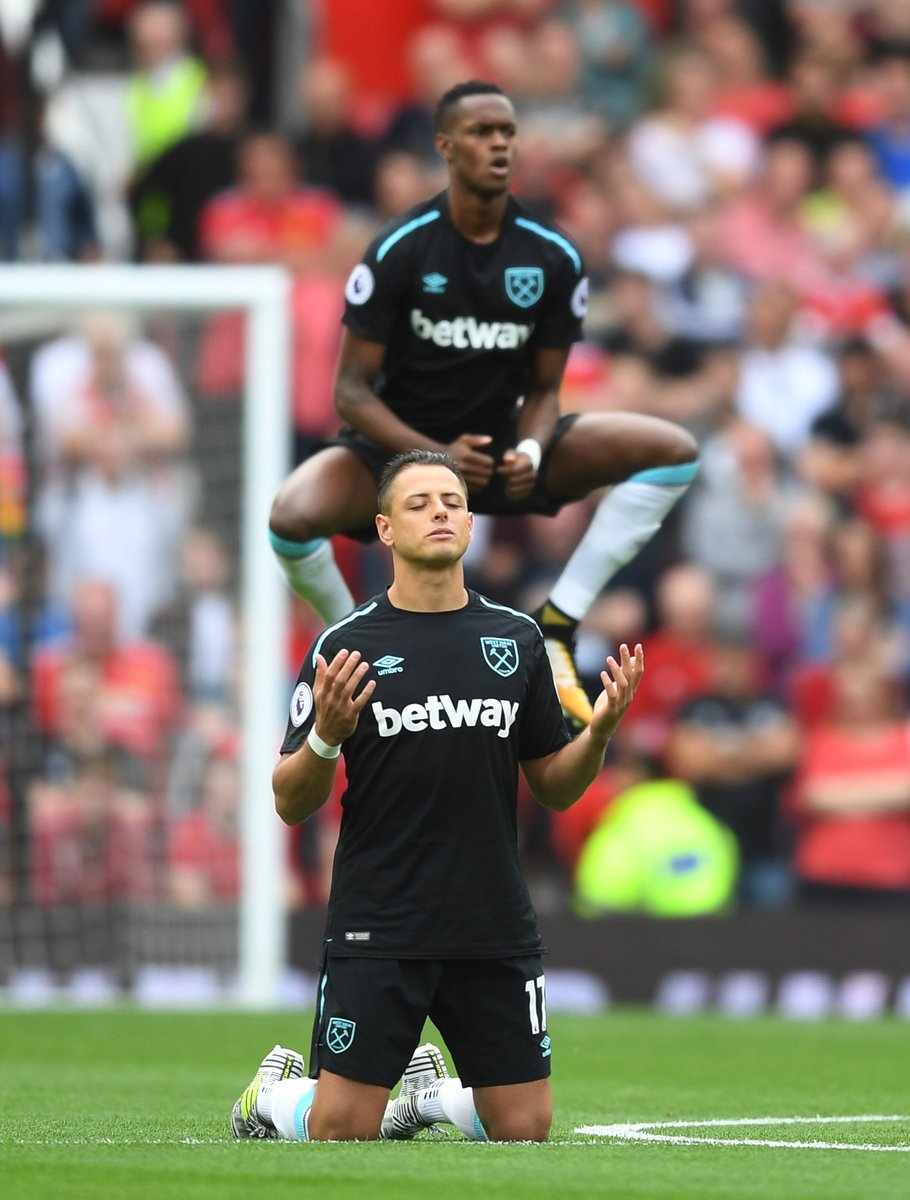 It didn't matter to Chicharito that his side were 2-0 down...   He's m...