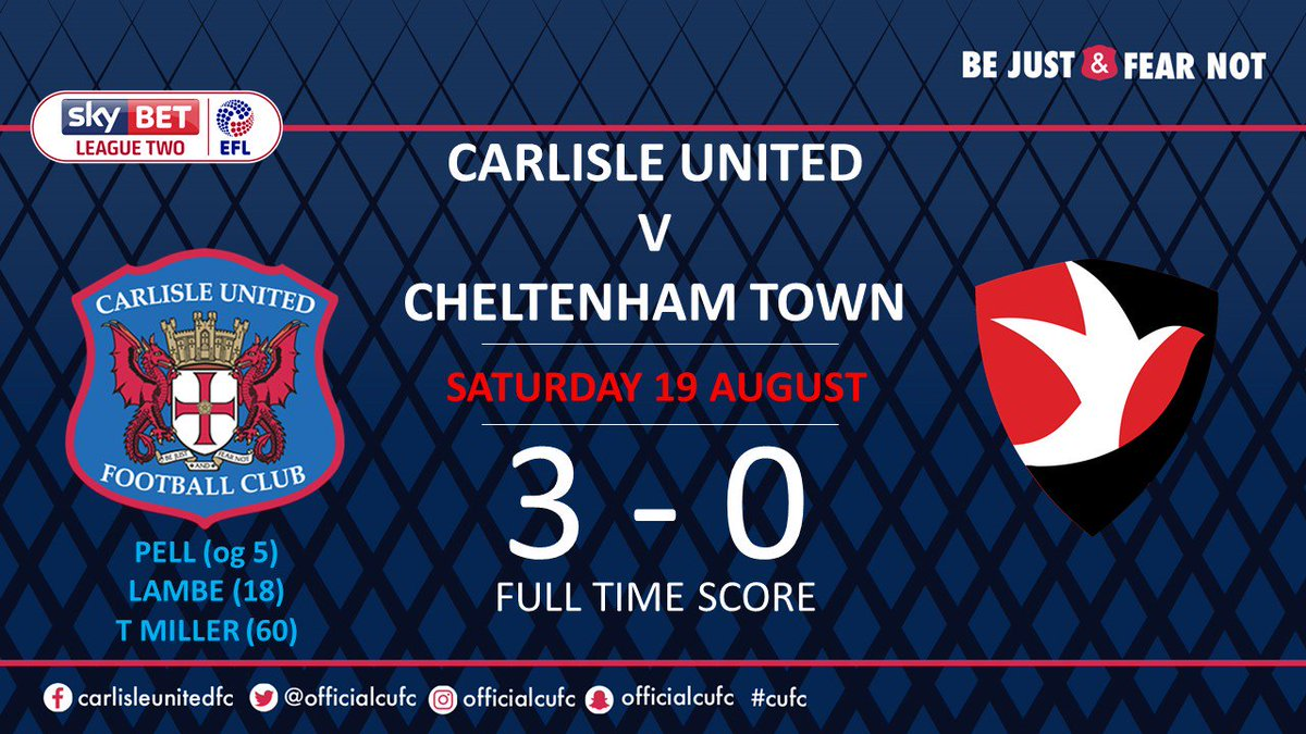 That's full time, we won 3-0 - get in! #cufc https://t.co/fu6TYKKYlu