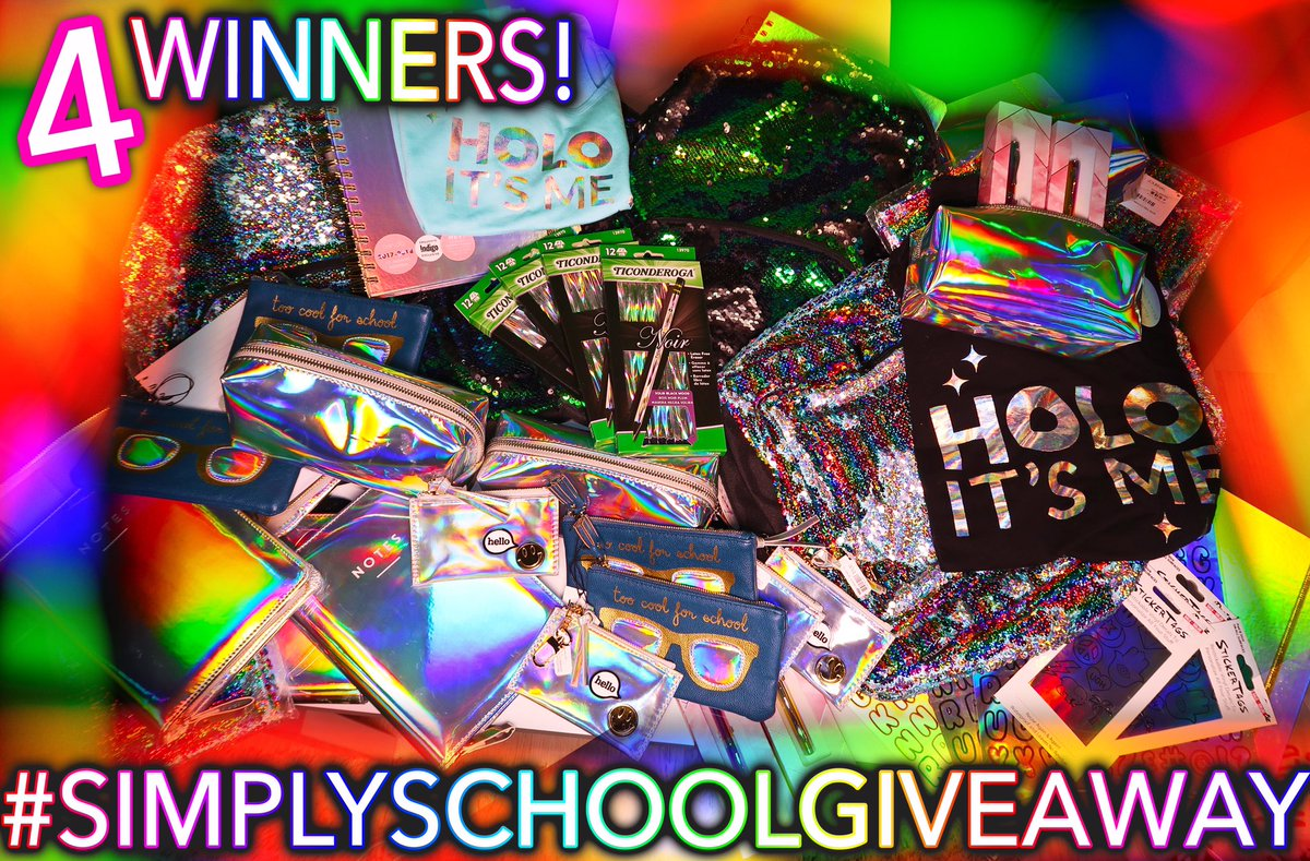 🚨H💿L💿-themed back to school GIVEAWAY🚨 for my twitter fam only!😎 RT & follow me to enter👍 Ends Aug 26 9PM EST g💿💿d luck!#simplyschoolgiveaway https://t.co/iq6Xejun7x