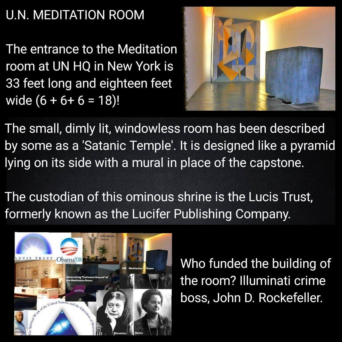 """President-Elect AfterBurner 🇮🇪🇬🇧🇺🇲 on Twitter: """"#UN #Meditation Room  #LucisTrust #Lucifer… """""""