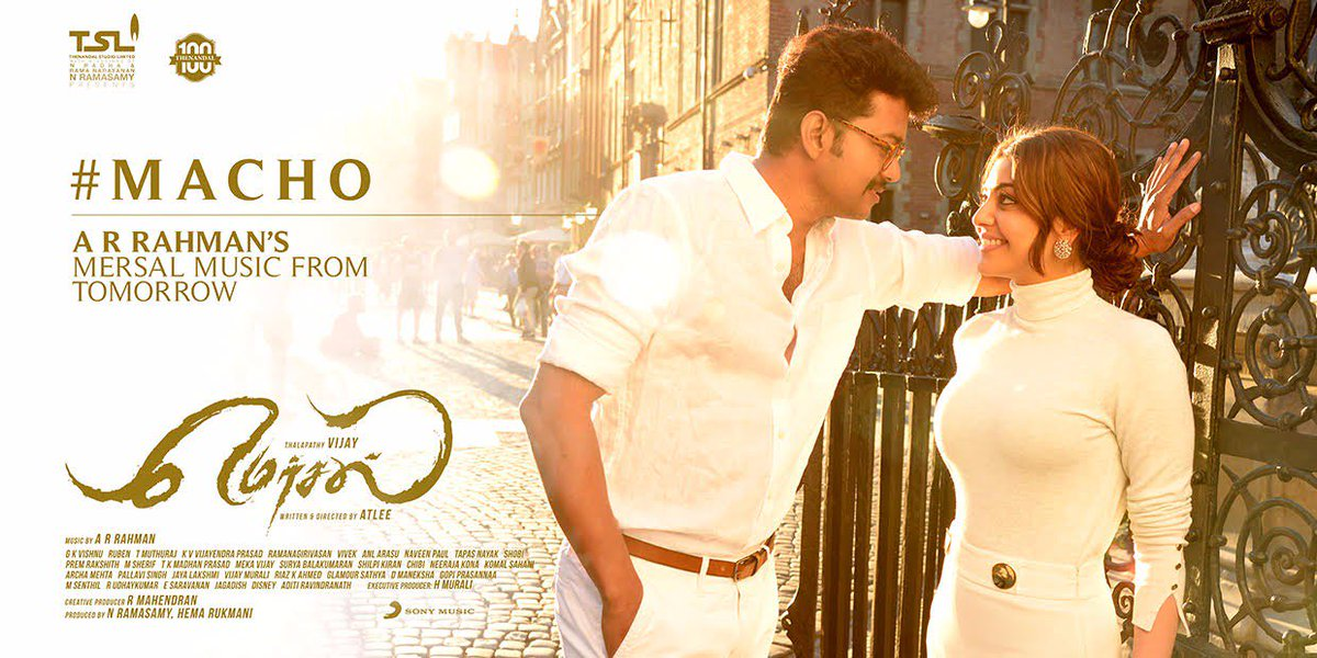 #Mersal AUDIO FEVER #MACHO #TSL100 @actorvijay @arrahman @Atlee_dir @M...
