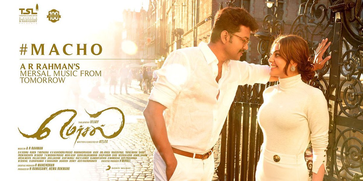 Just ahead of the Mersal Audio Fever, presenting the stylish #vijay in...