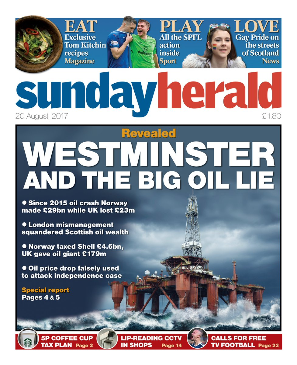Our front page Revealed: Westminster and the Big Oil Lie #scotpapers #buyapaper https://t.co/IBttb4PgWL