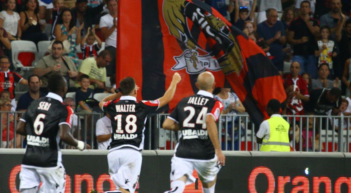 Com gols de Pléa e Walter o Nice conseguiu sua primeira vitória na @Ligue1_POR . #OGCNESTAC #IssaNissa pic.twitter.com/iGDlwBp1ay