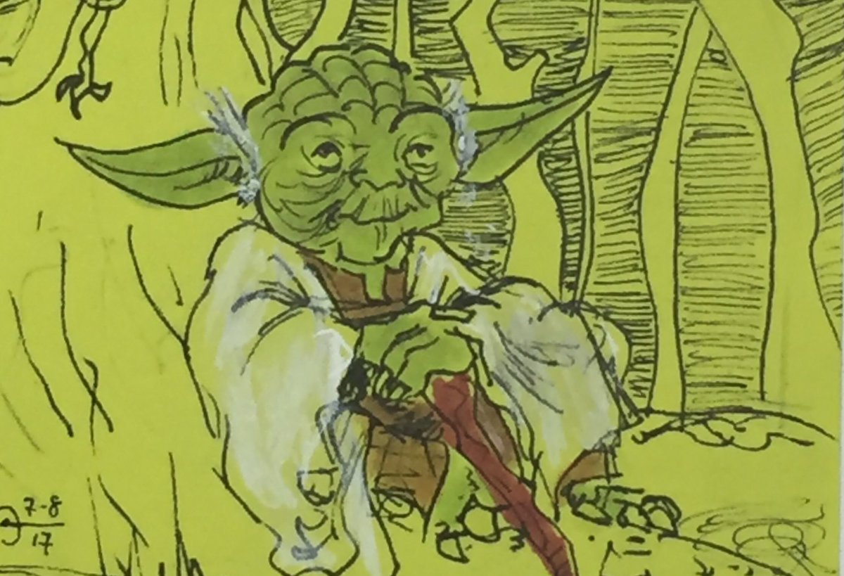 &quot;Thinking about those sweet flips, I am&quot;  #yoda #starwars #dagobah #attackoftheclones <br>http://pic.twitter.com/U4pK4W2WO2