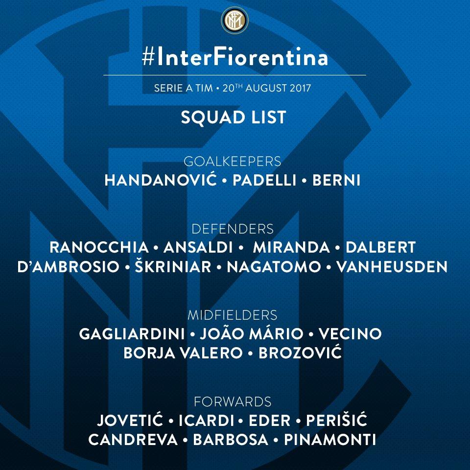 📋 Questi i 23 convocati di mister #Spalletti per #InterFiorentina! 👇...