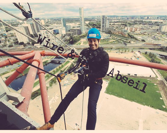 Over the top moment! Just lean back... #abseil <br>http://pic.twitter.com/IVTRnSxil8