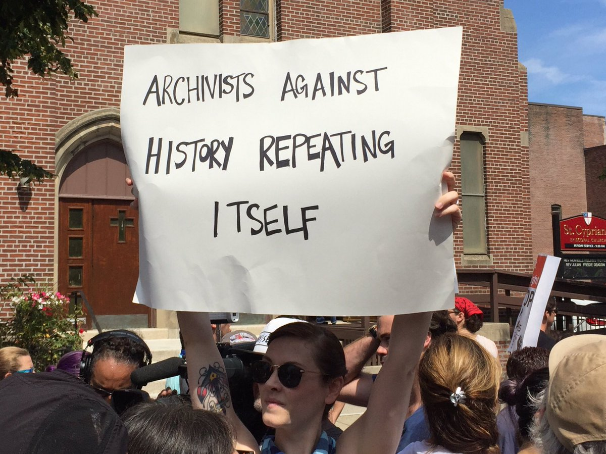 &quot;Archivists against history repeating itself&quot; - One of my faves from #bostonresist #boston #archivists #archives @wgbhnews<br>http://pic.twitter.com/qi1HOqERZp
