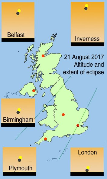 A little bit of Monday's solar eclipse will be visible from the UK ... but do take care: https://t.co/tJzlfu5Xnt https://t.co/Wbyv5nTwto