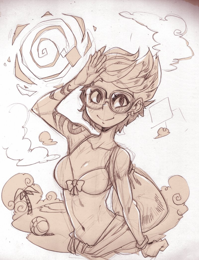 Summer Mika sketch  (though it&#39;s winter on this side of the world) #sketch #cutiesaturday<br>http://pic.twitter.com/gx8zTBU0fr