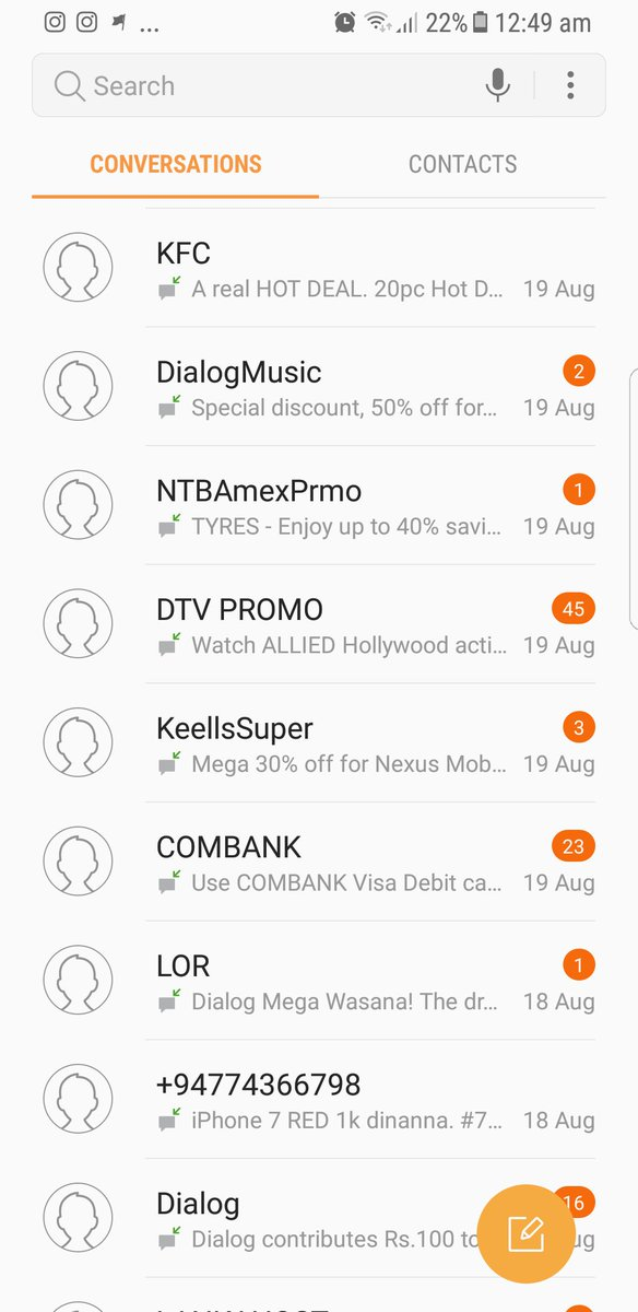 Todays common state of an #sms inbox. More #deals than actual messages. #mobilemarketing #promos #Promotions #lkr <br>http://pic.twitter.com/23KO7mONLI