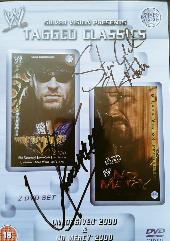 Tonights viewing WWF #Unforgiven 2000  &amp; a cool excuse 2 show off my signed dvd both both #Undertaker &amp; #Stonecold @WDNcom #Attitudeera #WWE<br>http://pic.twitter.com/0pUDjWfd33