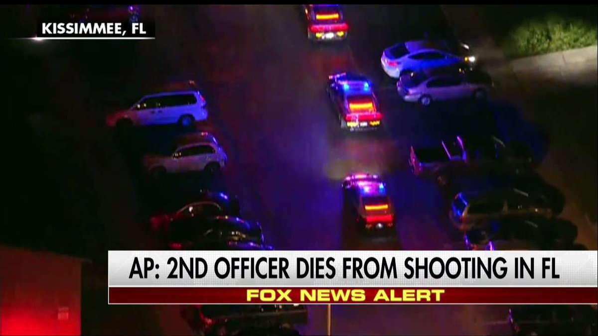 .@AP: The 2nd Kissimmee police officer who was shot last night has died.