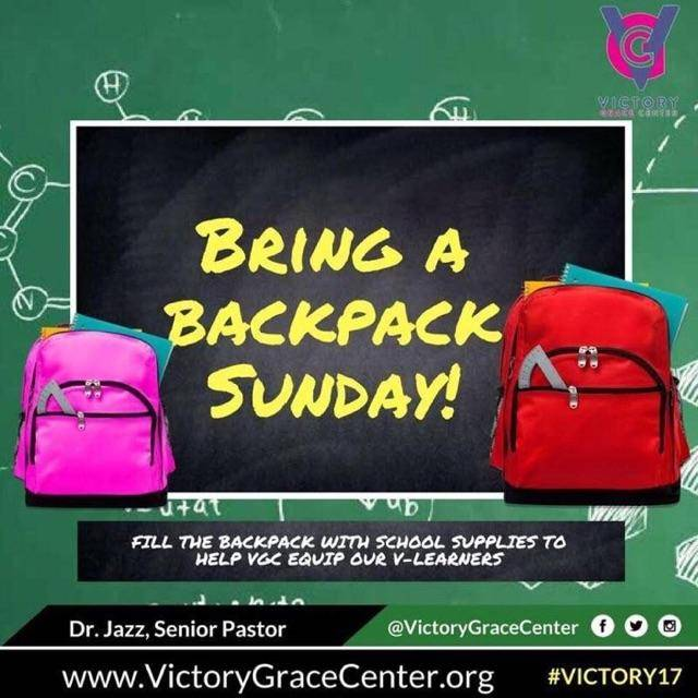 Don&#39;t forget to bring a backpack filled with school supplies to help support #VGC&#39;s Book Bag Drivefor students in PG County! @iamdrjazz<br>http://pic.twitter.com/3JXgPWrsGI