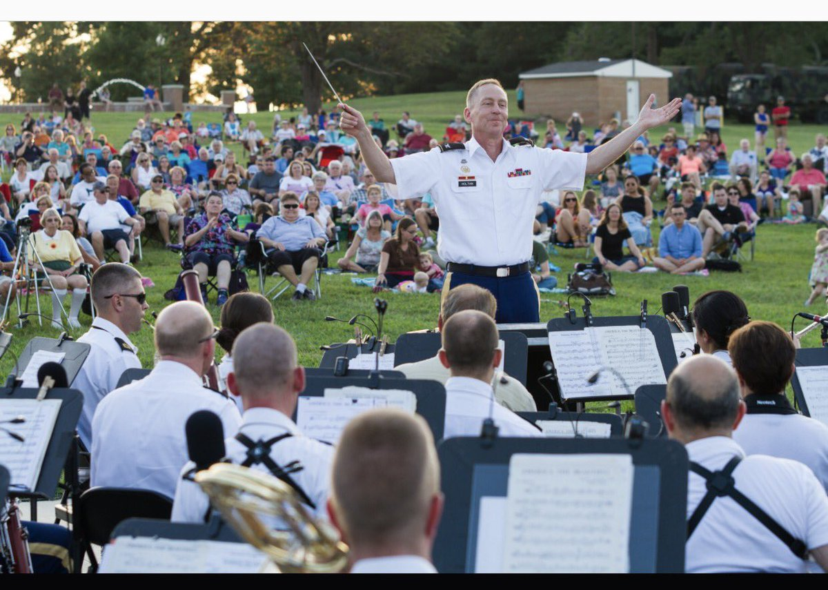 Today is our annual #FieldBandAlumni show at Ft. Meade, Constitution Park at 7:00p ET. Come and see us! Check later for livestream. #GoArmy