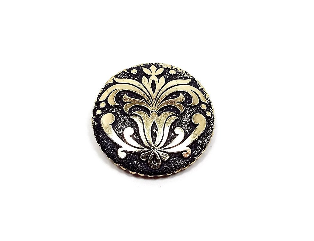 Vintage Scarf Clip Black and Gold Tone Made in West Germany Mid Century A…  http:// etsy.me/2uUKjBr  &nbsp;   #Etsy #MidCentury <br>http://pic.twitter.com/MQCmtKytlO