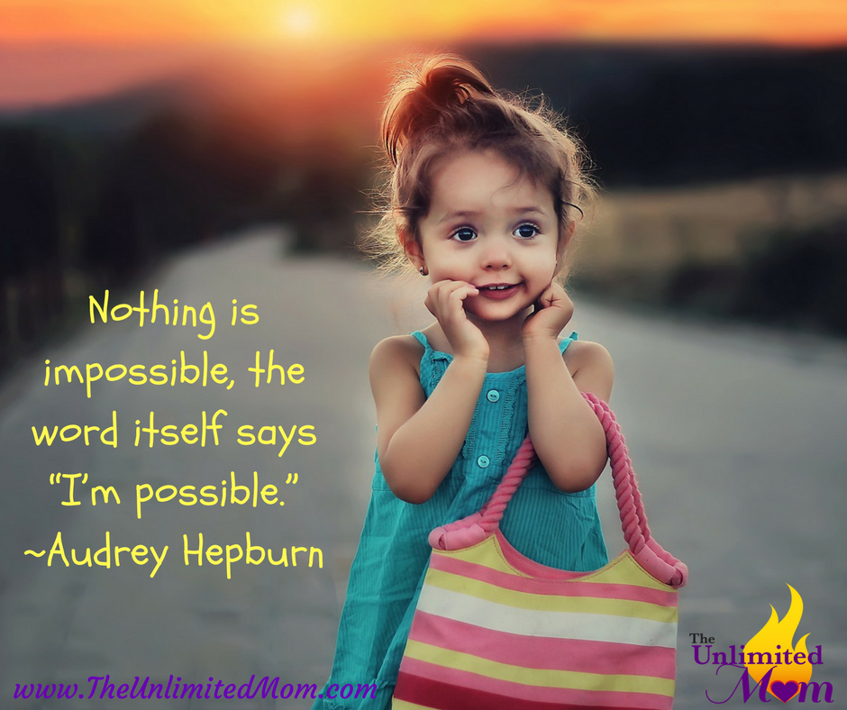 "Nothing is impossible, the word itself says ""I'm possible."" – Audrey Hepburn  #mommy #busymom<br>http://pic.twitter.com/VYVRpprbTc"