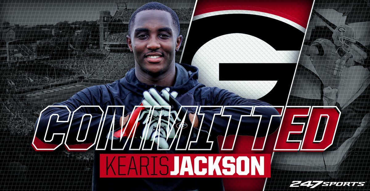 Breaking: Four-star WR Kearis Jackson has committed to #UGA https://t.co/Lu3d2ytUQ9 https://t.co/I3asxM81x8