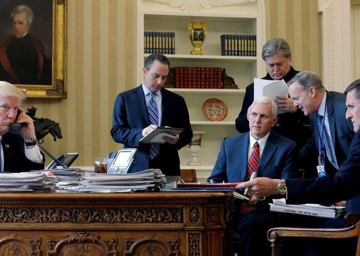 This January photo of Trump's inner circle has not aged well. https://t.co/7hrJX3bVA6