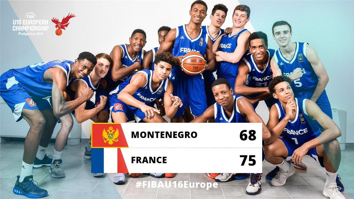 Bravo les gars !!! Nous sommes fiers de vous ! Vous rejoignez les filles sur le toit de l'Europe  #BRAVO #FIBAU16Europe  pic.twitter.com/zD4ZNjtNE6