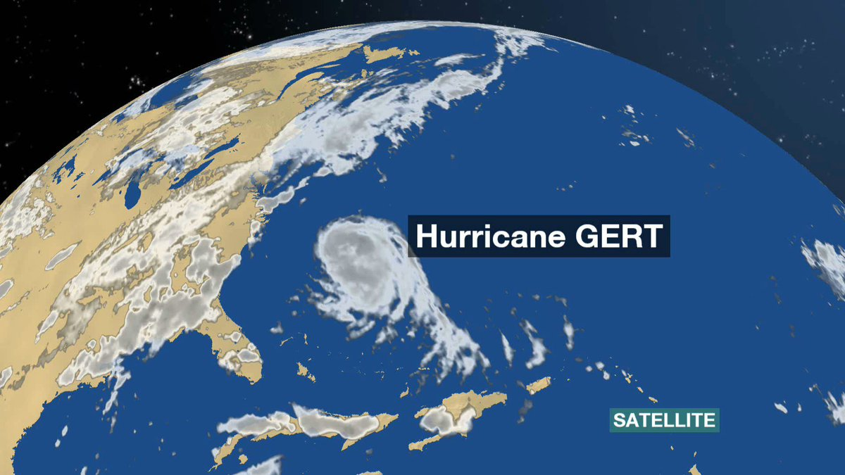 Hurricane Gert versus the Atlantic jet-stream, but which will prevail? Find out on BBC One at 10:22pm CF
