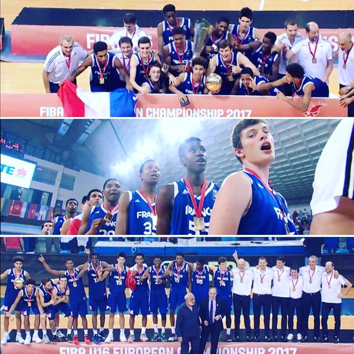 Les Champions d'Europe   #FIBAU16Europe #AvenirPrometteurpic.twitter.com/63nL4YAJjI