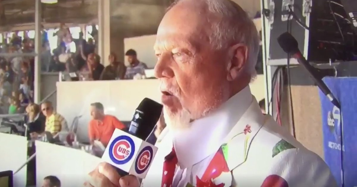 VIDEO: Don Cherry sings 'Take Me Out To The Ball Game' at Wrigley Fiel...