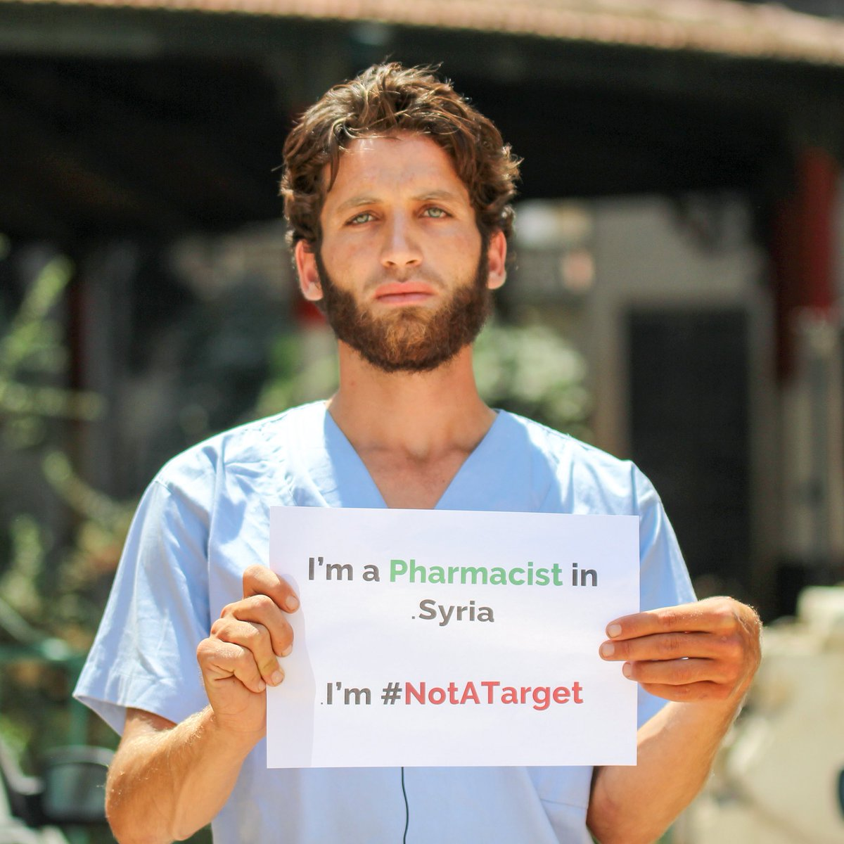 I'm a pharmacist in #Syria. I'm #NotaATarget
