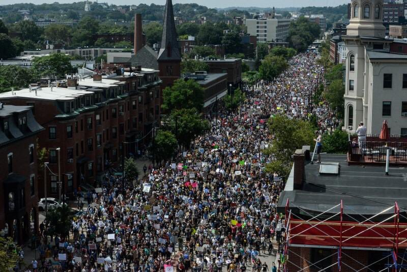 Major Boston counter-protests against 'free speech' rally. Thankful there's been no violence.