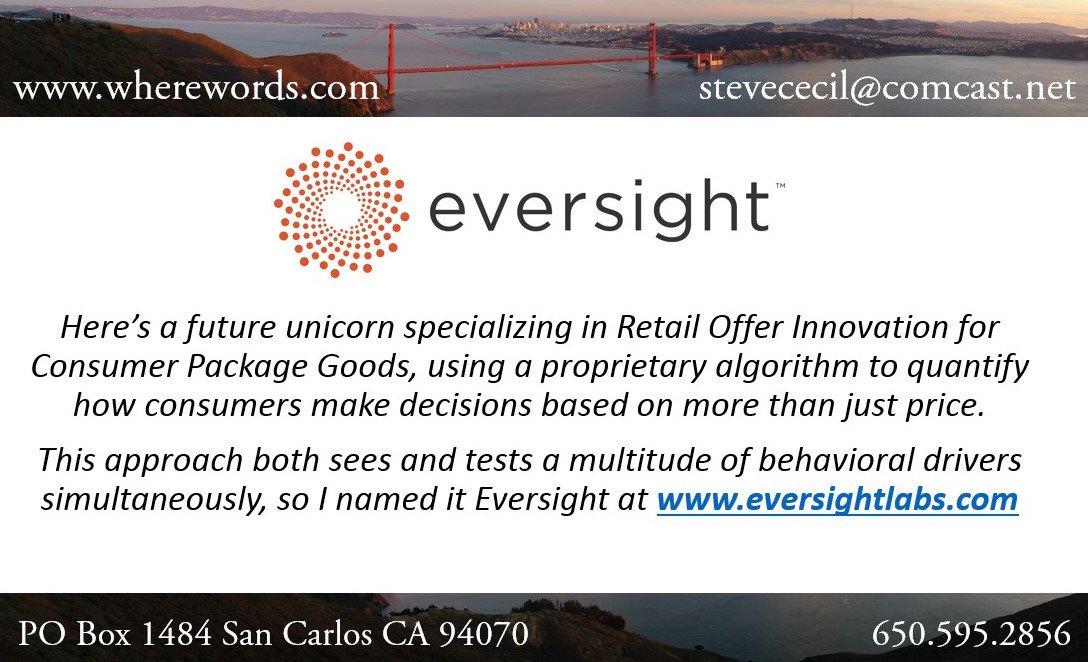 Yes, I named it! #Eversight #promotions #ConsumerGoods #OfferInnovation #retail #bigdata #CPG #CMO #namer #naming #branding #VerbalBranding<br>http://pic.twitter.com/bI17dbkdFv