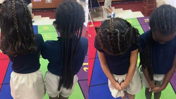 Little girl requests braids so she can be 'twins' with best friend. Read why her mother was hesitant at first » https://t.co/peD0S2RpqV