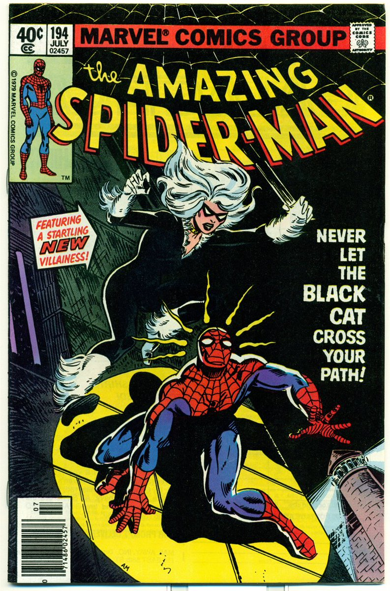 Happy #Caturday! 1st #BlackCat from #Amazing #SpiderMan 194 CGC 8.5  http:// etsy.me/2wdcwEF  &nbsp;   1979 #Cats #Caturdays #MarvelsSpiderMan #Comics<br>http://pic.twitter.com/c6DNePsKEG