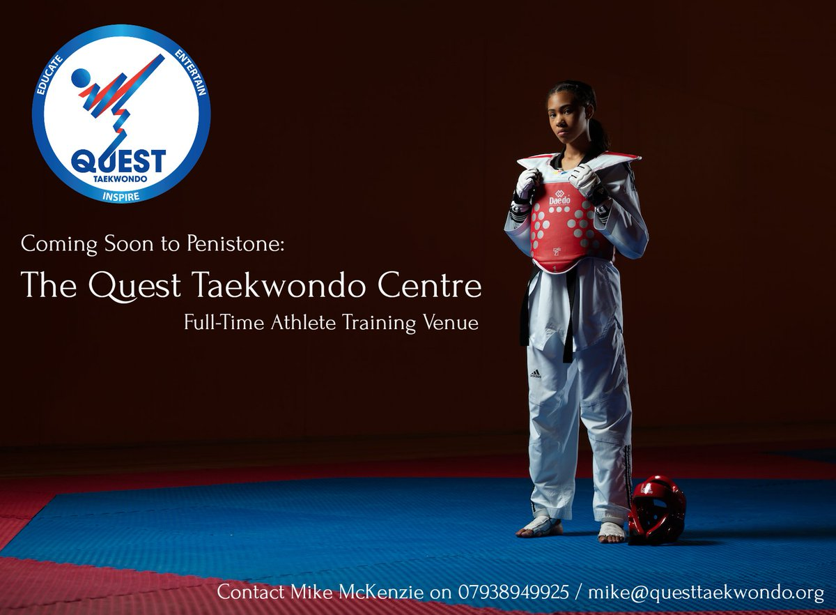 The new Quest Taekwondo full-time venue is coming soon to Penistone.  Serving the whole of Yorkshire and beyond #theQuestCentre #JoinUs <br>http://pic.twitter.com/KT1FE6SrBl
