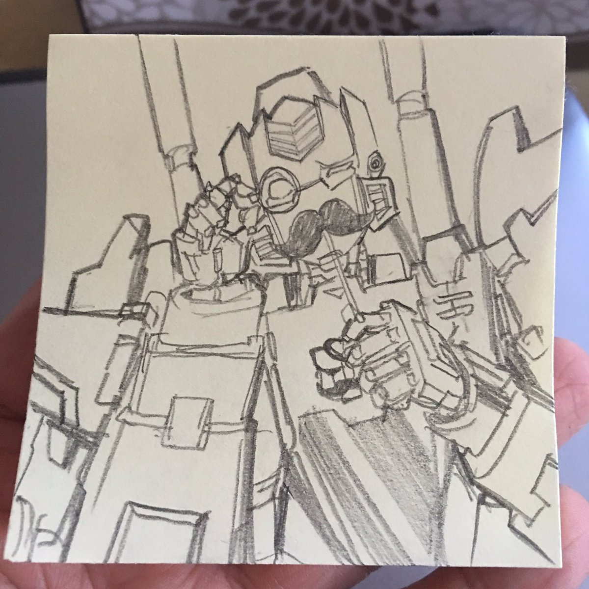 I drew this for good friend @Sierenthe  It&#39;s #brainstorm being all dapper! #transformers  #postit #sketch <br>http://pic.twitter.com/eP3Jwgz42o