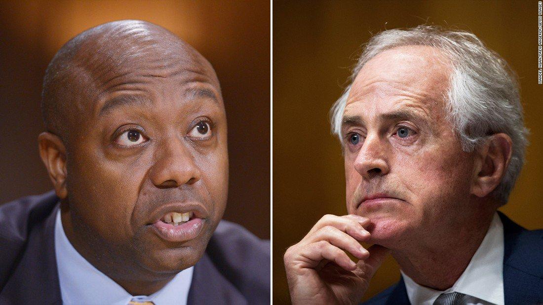 Republican senators are striking back in President Trump's public war...