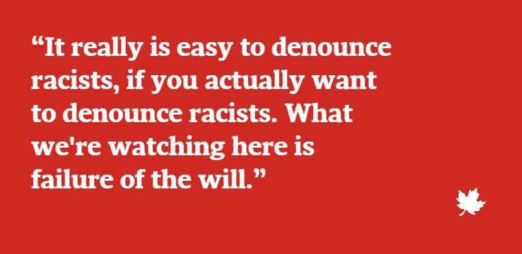 Presidenting 101: Intro to denouncing racism https://t.co/dJXdRW9Ptl From @TabathaSouthey via @GlobeDebate