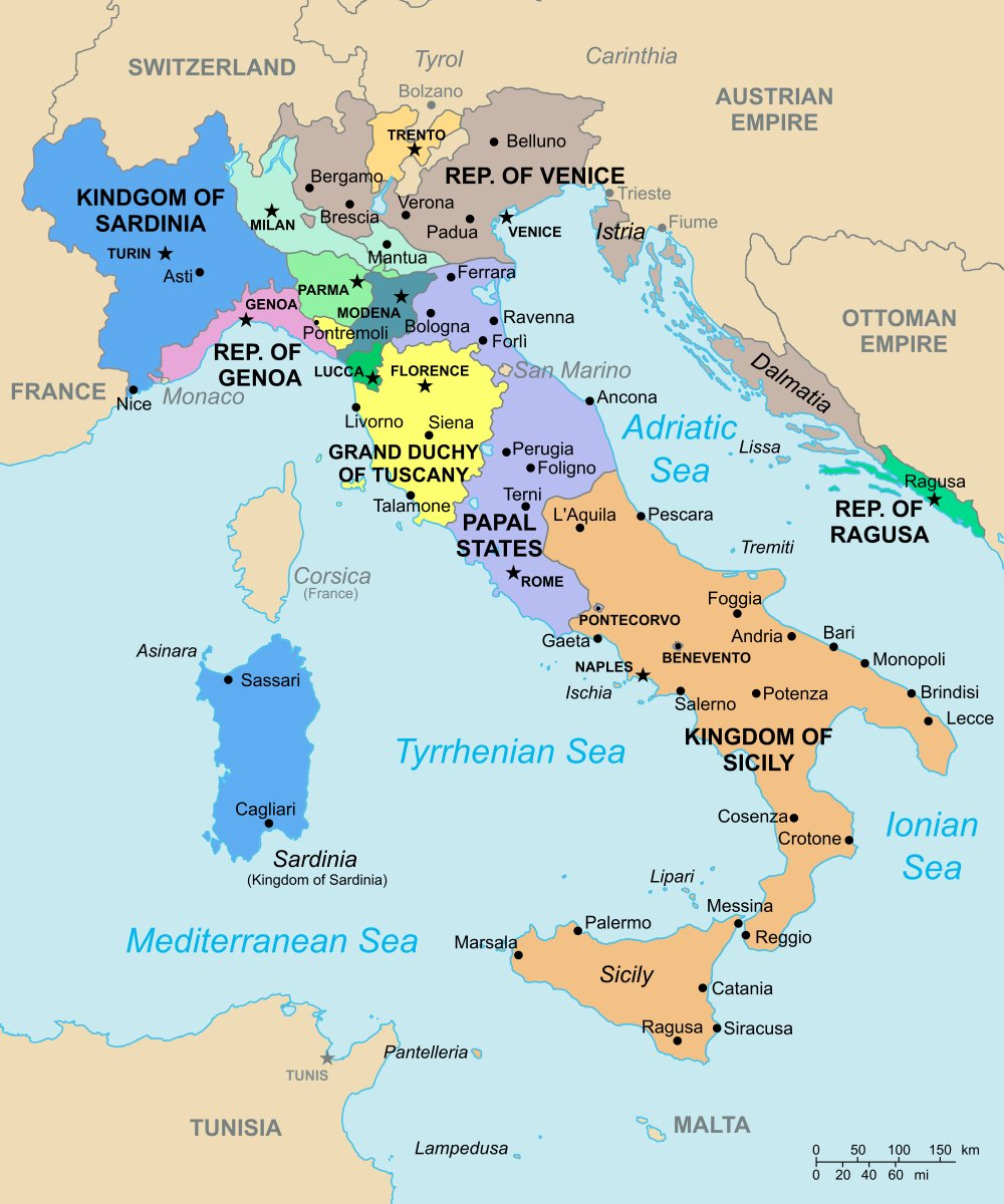 OnlMaps on Twitter Italy in 1796 map maps