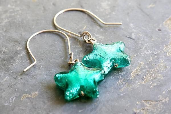 One of a kind handmade earrings Murano glass stars and sterling  https:// buff.ly/2wbvUBQ  &nbsp;   #Accessories #jetteam<br>http://pic.twitter.com/ANZCWnR8Z1