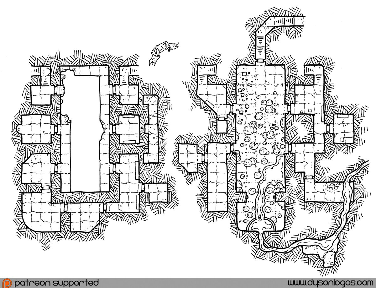 &quot;Infested Hall (with video)&quot; #map by @DysonLogos   http:// bit.ly/2wZbx8y  &nbsp;   #DnD #RPG #cartography <br>http://pic.twitter.com/DnpRjMNLNZ