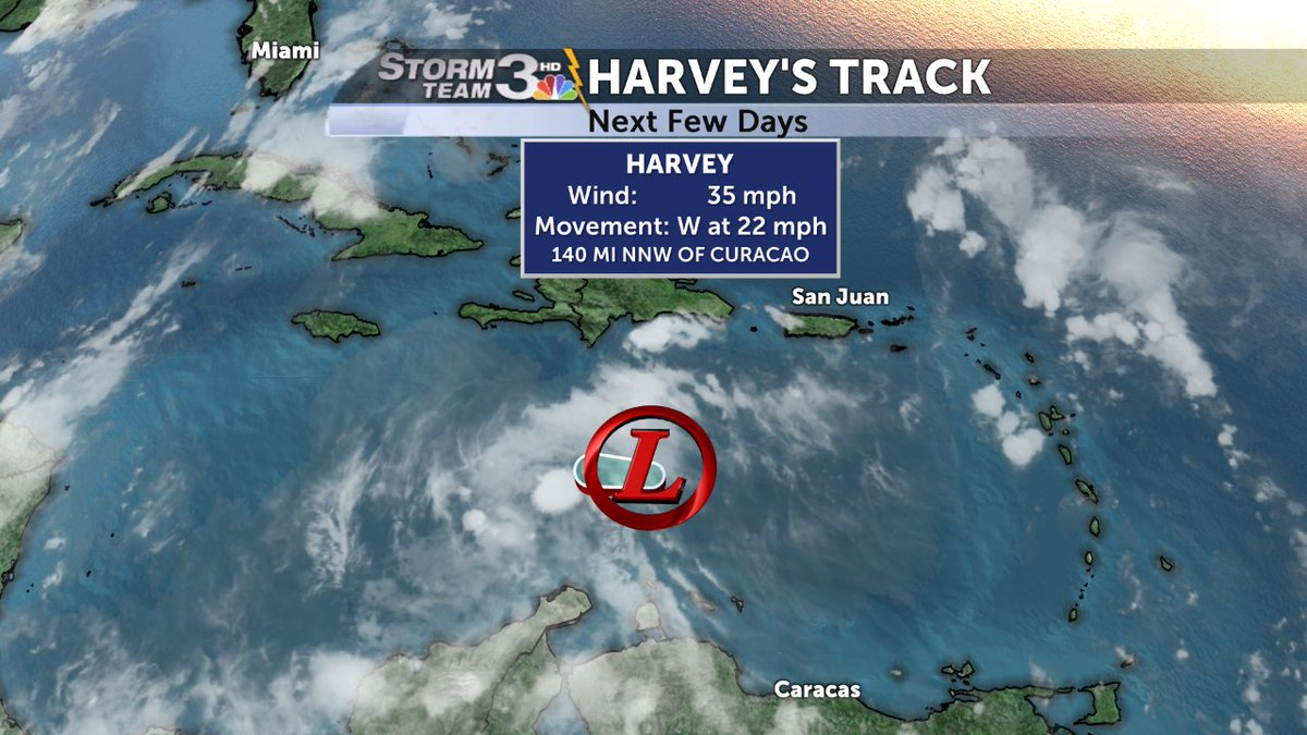 Tropical Storm Harvey could regroup but stay clear of Florida