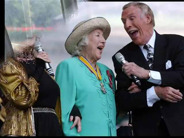 Brucie with Dame Vera Lynn